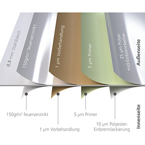 Biohort Freizeitbox, regenwasserdicht, 830L, 160x79x83cm - 5