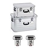Enders Aluboxen Set 29 und 63 Liter + Schloss Set