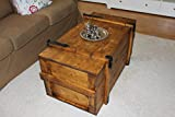 Uncle Joe´s Truhe Holzkiste, 98 x 55 x 48 cm, Holz, Hellbraun, Vintage, Shabby chic Couchtisch, braun, 98x55x48 cm - 5