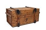 Uncle Joe´s Truhe Holzkiste Roosevelt Field, 98 x 55 x 49 cm, Holz, Hellbraun, Vintage, Shabby chic