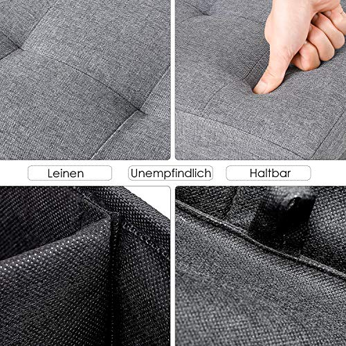 Homfa Sitzbank mit Stauraum 110x38x38cm Sitzhocker Bank Truhe mit Deckel Fußablage - 5