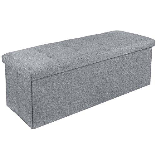 Homfa Sitzbank mit Stauraum 110x38x38cm Sitzhocker Bank Truhe mit Deckel Fußablage - 4