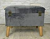 Livitat® Hocker Polsterhocker Suitcase Pouf Truhe Staufach Truhenbank Sitzbank Ottomane LV2084 - 2