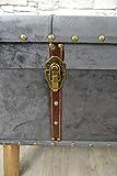 Livitat® Hocker Polsterhocker Suitcase Pouf Truhe Staufach Truhenbank Sitzbank Ottomane LV2084 - 7