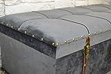 Livitat® Hocker Polsterhocker Suitcase Pouf Truhe Staufach Truhenbank Sitzbank Ottomane LV2084 - 6