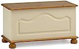 Steens Richmond Betttruhe, 82 x 44 x 39 cm (B/H/T), teilmassiv, weiß/gelaugt/lackiert