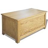 Festnight Holz Aufbewahrungstruhe aus Eichenholz Aufbewahrungsbox Holztruhe 90 x 45 x 45 cm - 3