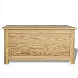 Festnight Holz Aufbewahrungstruhe aus Eichenholz Aufbewahrungsbox Holztruhe 90 x 45 x 45 cm - 4