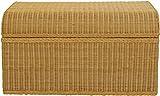 korb.outlet Grosse Truhe/Wäschetruhe aus Rattan mit rundem Deckel in der Farbe Honig - 2