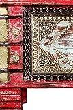 Orientalische Truhe Kiste aus Holz Chalil 80cm groß   Vintage Sitzbank mit Aufbewahrung für den Flur   Aufbewahrungsbox mit Deckel im Bad   Betttruhe als Kissenbox oder Deko im Schlafzimmer - 4
