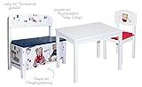 roba Truhenbank 'Teddy College', Sitzbank für Kinder, Kindermöbel zum Sitzen und Aufbewahrung von Spielzeug, weiß bedruckt - 4