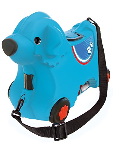 BIG 800055352 - Bobby-Trolley, Kinderkoffer, Kindergepäck, blau