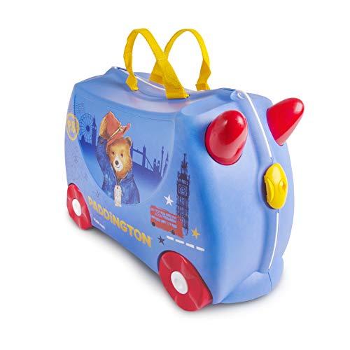 Trunki Trolley Kinderkoffer, Handgepäck für Kinder: Paddington Bär (Blau)