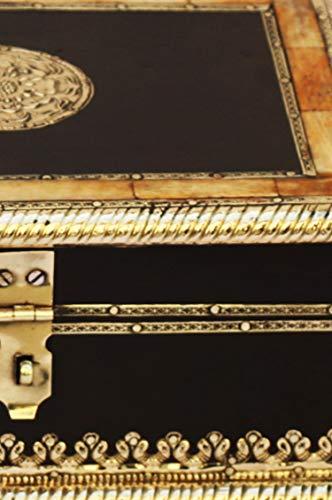 2er SET Orientalische kleine Aufbewahrungsbox mit Deckel Babuna 22cm groß | Orientalischer Schmuckkästchen für Mädchen und Damen zur Schmuckaufbewahrung | Marokkanische Schatulle Box aus Holz - 4