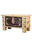Orientalische Truhe Kiste aus Holz Chayma 80cm groß | Vintage Sitzbank mit Aufbewahrung für den Flur | Aufbewahrungsbox mit Deckel im Bad | Betttruhe als Kissenbox oder Deko im Schlafzimmer
