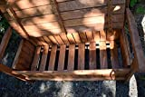 dobar Gartenbank Massive mit Lehne 2-Sitzer aus FSC Holz, 115x58x89cm, braun - 8
