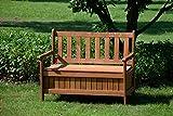 dobar Gartenbank Massive mit Lehne 2-Sitzer aus FSC Holz, 115x58x89cm, braun - 9