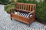 dobar Gartenbank Massive mit Lehne 2-Sitzer aus FSC Holz, 115x58x89cm, braun - 10
