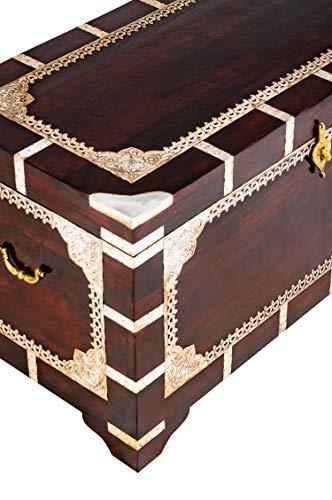 Marrakesch Orient & Mediterran Interior ® Indischer Truhentisch Vimalaa - 80cm - 7