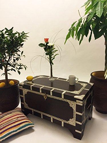Marrakesch Orient & Mediterran Interior ® Indischer Truhentisch Vimalaa - 80cm - 9