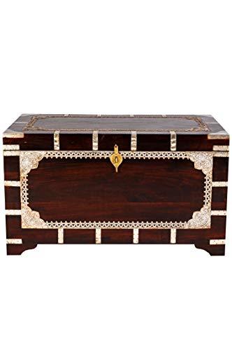 Marrakesch Orient & Mediterran Interior ® Indischer Truhentisch Vimalaa - 80cm - 8