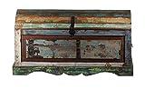 Sit Möbel Riverboat 9191-98 Truhe mit großem Stauraum, recyceltes Altholz, bunt lackiert, 100 x 44 x 50 cm