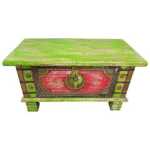 Indoortrend.com Truhe Kiste Holztruhe Box 80 Vintage Massiv Shabby Chic aus Handarbeit Unikat 3