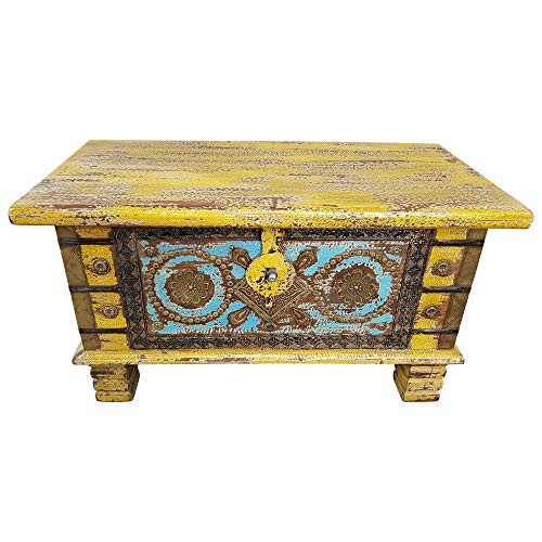 Indoortrend.com Truhe Kiste Holztruhe Box 80 Vintage Massiv Shabby Chic aus Handarbeit Unikat 7