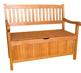 SEDEX GREENA Gartenbank mit Truhe 4-Sitzer Bank Holz Garten Sitzbank Massiv Eukalyptusholz FSC