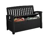 Koll Living Gartenbank/Aufbewahrungsbox/Auflagenbox - 227 Liter - Deckel belastbar bis 272 KG - Belüfteter Innenraum - kein übler Geruch oder Schimmel - Modell 2020