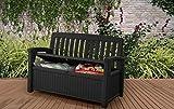 Koll Living Gartenbank/Aufbewahrungsbox/Auflagenbox - 227 Liter - Deckel belastbar bis 272 KG - Belüfteter Innenraum - kein übler Geruch oder Schimmel - Modell 2020 - 2