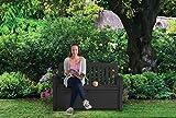 Koll Living Gartenbank/Aufbewahrungsbox/Auflagenbox - 227 Liter - Deckel belastbar bis 272 KG - Belüfteter Innenraum - kein übler Geruch oder Schimmel - Modell 2020 - 4