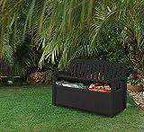 Koll Living Gartenbank/Aufbewahrungsbox/Auflagenbox - 227 Liter - Deckel belastbar bis 272 KG - Belüfteter Innenraum - kein übler Geruch oder Schimmel - Modell 2020 - 5