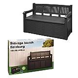 Gartenbank 2-Sitzer Aufbewahrung Kissenbox Gartenmöbel 130x60x85 cm - 2