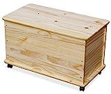 KMH®, große Spielzeugkiste auf Rollen aus massivem Pinienholz (Natur) (#800068) - 3