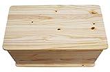 KMH®, große Spielzeugkiste auf Rollen aus massivem Pinienholz (Natur) (#800068) - 2