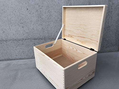 Holz Spielzeugkiste Blanco - Rollen Triangel skandinavisch mit Deckel - 5