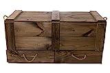 Moooble 1x Holztruhe mit Deckel + 2 Schubladen | 85,5x42x43,5 cm | stabile Spielzeugtruhe Holz als 'Schatzkiste' mit viel Platz | zum sitzen - 4