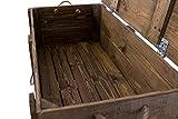 Moooble 1x Holztruhe mit Deckel + 2 Schubladen | 85,5x42x43,5 cm | stabile Spielzeugtruhe Holz als 'Schatzkiste' mit viel Platz | zum sitzen - 5