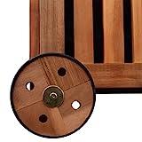vidaXL 41772 Aufbewahrungsbox Gartentruhe Gartenbox Kissenbox + Räder Holz 118x52x58cm, One Size - 2
