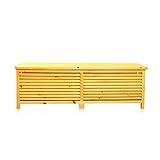 Melko Auflagenbox Kissenbox Gartenbox mit klappbarem Deckel, regenfest, aus Holz, 46 x 140 x 52 cm, Gartentruhe Holztruhe