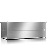ILESTO Aufbewahrungsbox aus Stahl, Benjamin (783L): Auflagenbox wasserdicht XXL   Kissenbox für Ihren Garten 185x85x69cm   Stauraum für den Außenbereich   Silber Metallic - 2