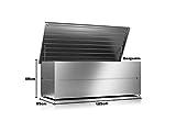 ILESTO Aufbewahrungsbox aus Stahl, Benjamin (783L): Auflagenbox wasserdicht XXL   Kissenbox für Ihren Garten 185x85x69cm   Stauraum für den Außenbereich   Silber Metallic - 4