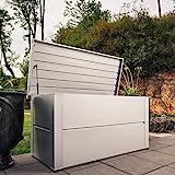 ILESTO Aufbewahrungsbox aus Stahl, Benjamin (783L): Auflagenbox wasserdicht XXL   Kissenbox für Ihren Garten 185x85x69cm   Stauraum für den Außenbereich   Silber Metallic - 5