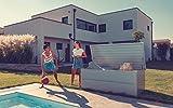 ILESTO Aufbewahrungsbox aus Stahl, Benjamin (783L): Auflagenbox wasserdicht XXL   Kissenbox für Ihren Garten 185x85x69cm   Stauraum für den Außenbereich   Silber Metallic - 7