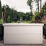 ILESTO Aufbewahrungsbox aus Stahl, Benjamin (783L): Auflagenbox wasserdicht XXL   Kissenbox für Ihren Garten 185x85x69cm   Stauraum für den Außenbereich   Silber Metallic - 6
