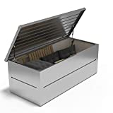 ILESTO Aufbewahrungsbox aus Stahl, Benjamin (783L): Auflagenbox wasserdicht XXL   Kissenbox für Ihren Garten 185x85x69cm   Stauraum für den Außenbereich   Silber Metallic - 3