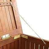 Wohaga® Gartenbox 133x58x55cm inkl. Innenplane Auflagenbox Kissenbox Gartentruhe Holztruhe Hartholz Eukalyptus Auflagentruhe - 5
