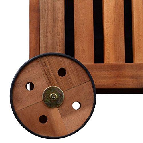 Festnight Auflagenbox Holz Gartenbox Outdoor Aufbewahrungsbox 118 x 52 x 58 cm für Garten Patio oder Terrasse - 3