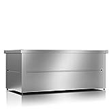 ILESTO Aufbewahrungsbox aus Stahl, Ben (692L): Auflagenbox wasserdicht XL | Kissenbox für Ihren Garten 165x85x69cm | Stauraum für den Außenbereich | Silber Metallic - 7